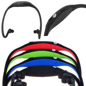 Wireless MP3 Player with FM Radio Headband Sports Gym in Black upto 32GB