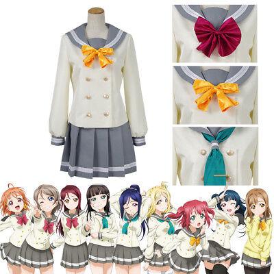 Aqours Lovelive! Sunshine!! Idol JK School Uniform Sailor Suit Cosplay Kostüme ()