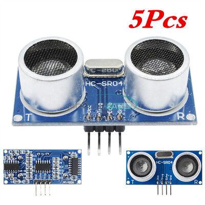 5pcs Arduino Ultrasonic Module Hc-sr04 Distance Sensor Measuring Transducer