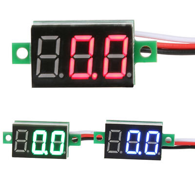 Mini Dc 2.4-30v 3 Wire Led Digital Display Panel Volt Meter Voltage Voltmeter