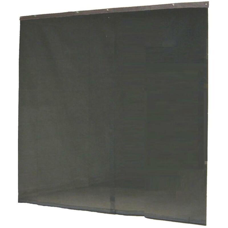 Garage Instant Screen Door Black Hardware Roll Up Accessory