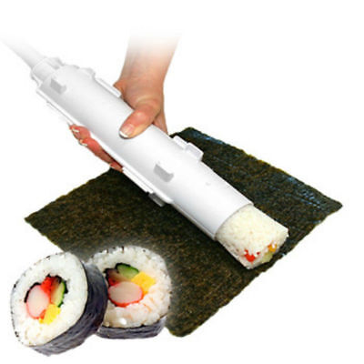 2X Home Sushi Maker Kit Rice Roll Mold DIY Easy Chef Mould Kitchen Roller Cutter