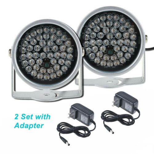 2pcs 48LED & 12V Power IR Infrared Night Vision Light for Security CCTV Camera