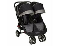 Baby Jogger City Mini Twin Push Chair Black/Gray - Nearly New