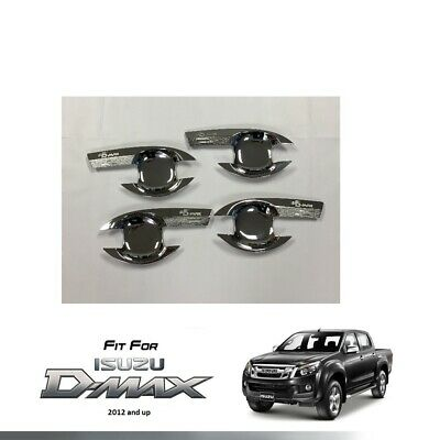 4 DOOR CHROME HANDLE BOWL FOR ISUZU DMAX D-MAX PICKUP TRUCK 2012 & UP