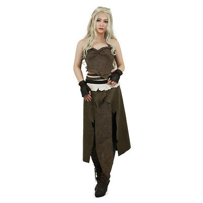 Game of Thrones Daenerys Targaryen Halloween Cosplay Khaleesi Dothraki Costume
