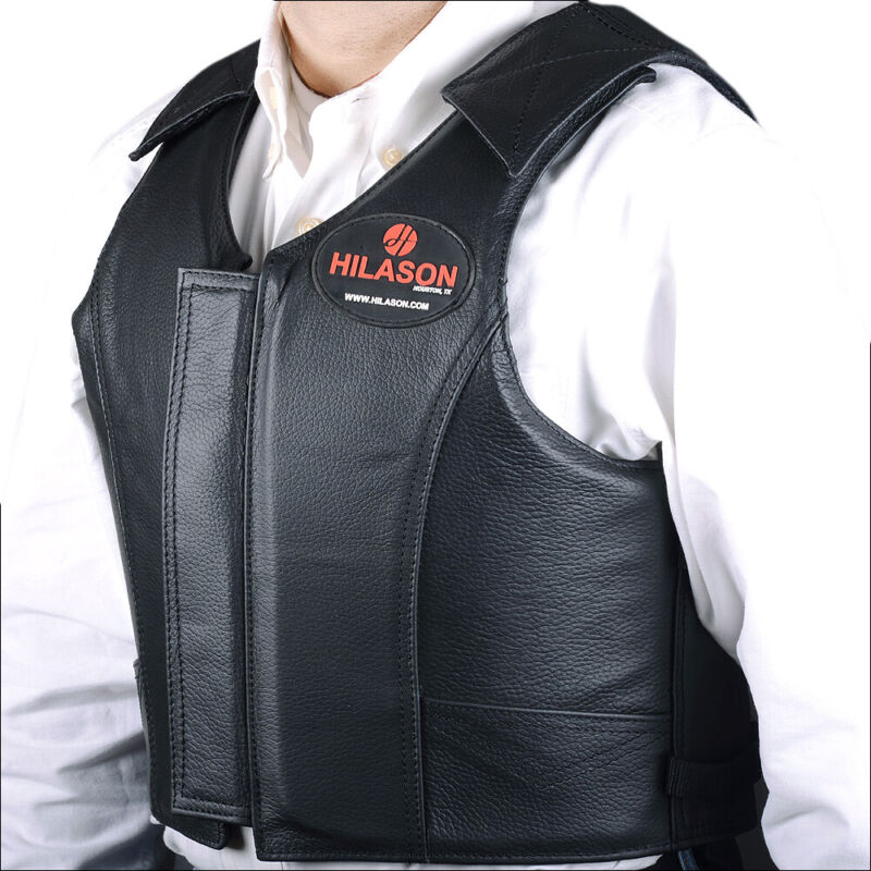 Equestrian Horse Riding Vest Safety Protective Hilason Leather U-00ND