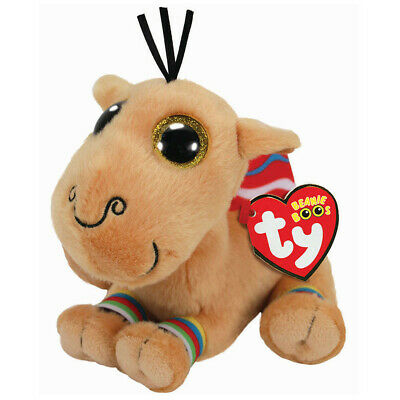 "2019 Ty Beanie Boos 6"" JAMAL the Carmel Stuffed Animal Plush MWMTs Ty Heart Tags"