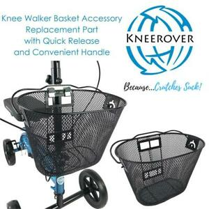 NEW Knee Walker Basket Accessory - Replacement Part with Quick Release and Convenient Handle - INCLUDES ATTACHMENT BR...