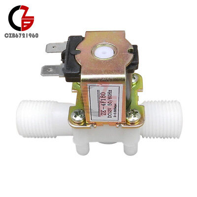 12 Nc Magnetic Electric Solenoid Valve Water Air Inlet Flow Switch Dc 12v