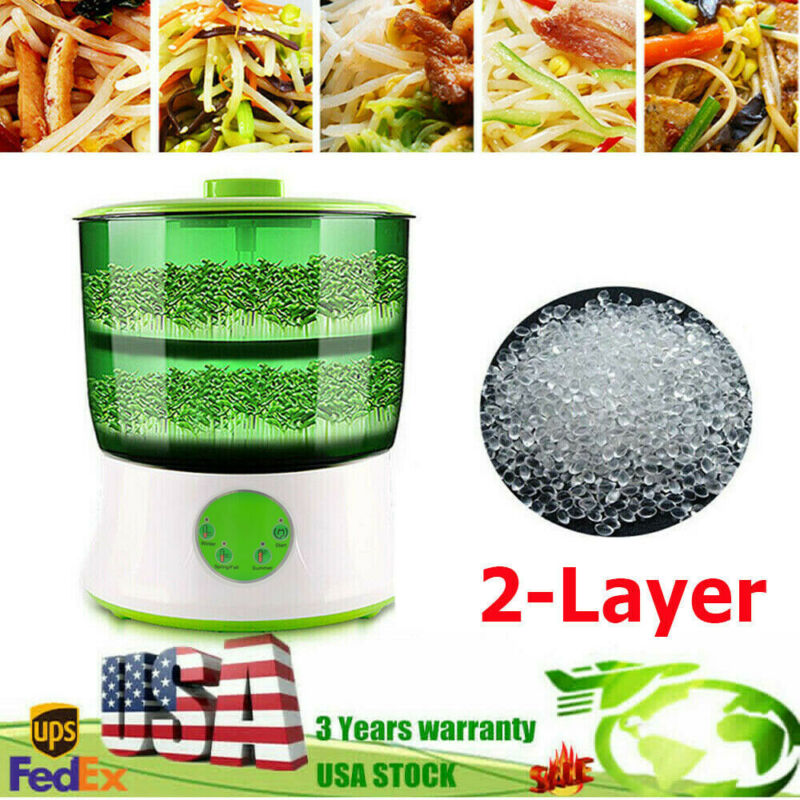 Household Automatic Bean Sprouts Machine 2-Layer Bean Seed Sprouter Machine Good