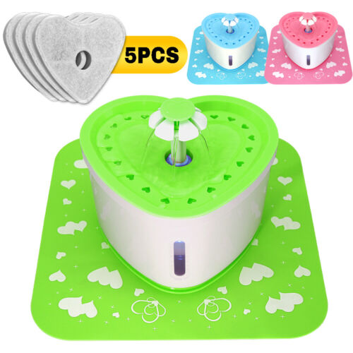 2.0L Automatic Cat Dog Fountain Water Bowl Large Electric Dr