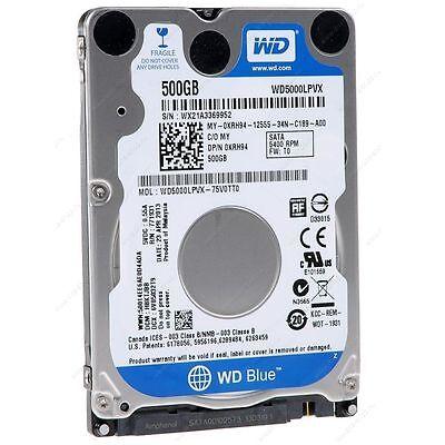 """New Western Digital Blue 500GB SATA 2.5"""" Laptop Hard drive 5400 RPM WD5000LPVX"""