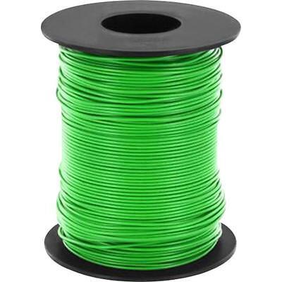 100 Meter Litze Grün 0,14mm² Kupferschaltlitze LIY Kabel auf Spule
