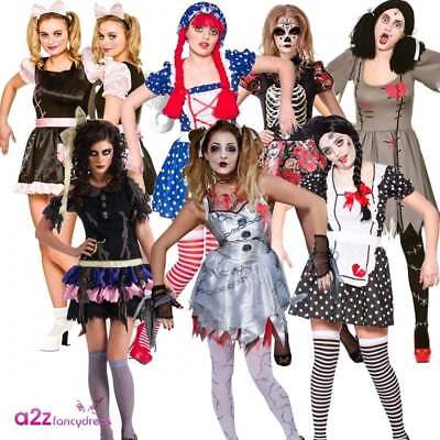 Womens Rag Doll Halloween Voodoo Zombie Dead Adult Ladies Fancy Dress - Voodoo Doll Kostüm