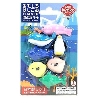 IWAKO Japanese Eraser - Sea Life  ER-BRI010