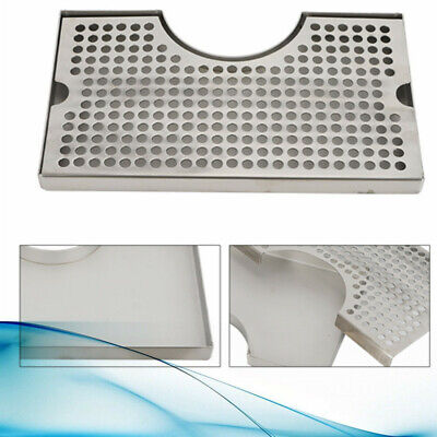Beer Drip Tray 304 Stainless Surface Mount Kegerator With Tower Cut Out No Drain