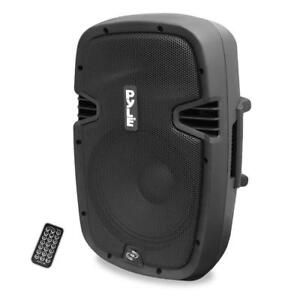 Pyle-Pro 12-Inch 900W 2-Way Powered Bluetooth Speaker System with USB/SD Readers, Record Function and Remote Control PPH