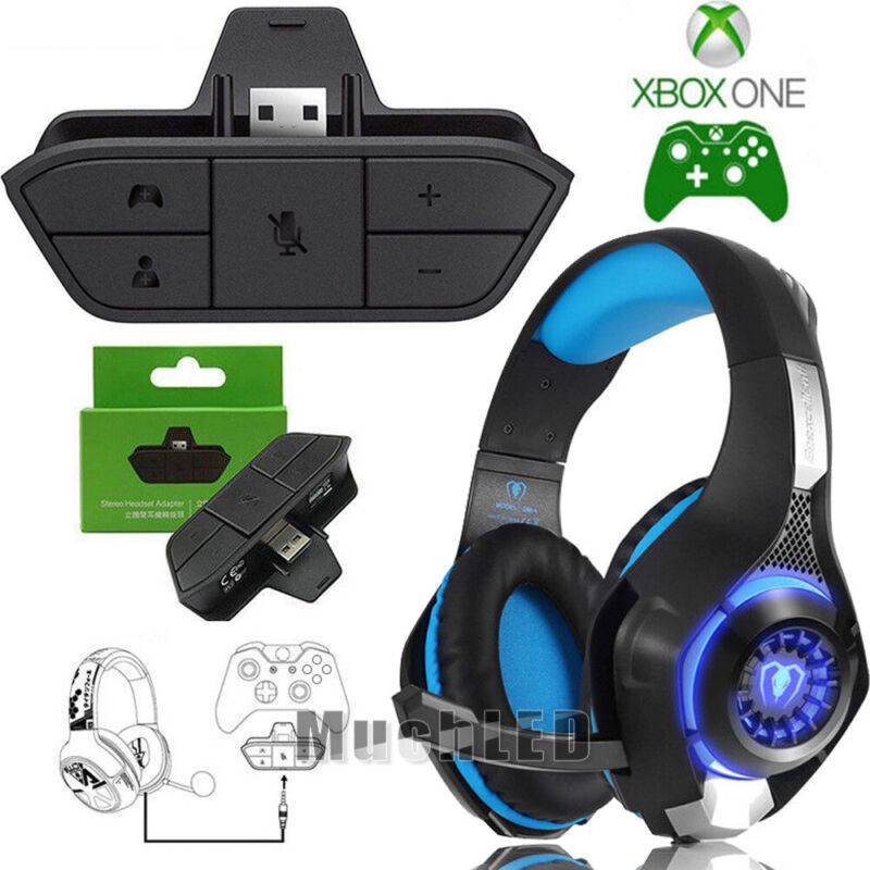 Stereo Headset Headphone Audio Game Adapter For Microsoft Xbox One Controller US