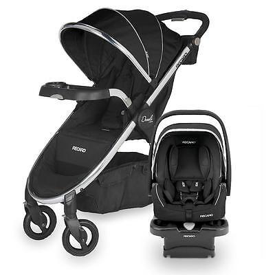 Recaro Denali Luxury Stroller + Performance Coupe Car Seat Onyx Travel System