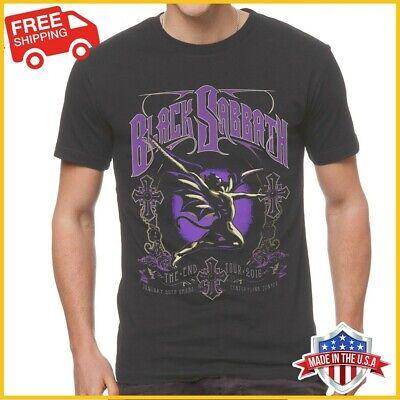 FREESHIP Black Sabbath T Shirt The End Tour 2016 Cotton Black Unisex Tee S-6XL