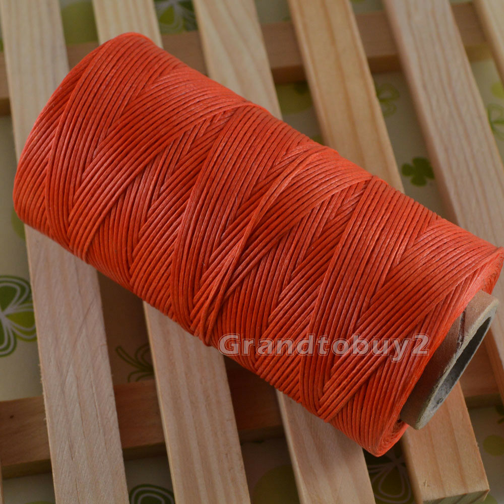 284yards 19 Colors 0.8mm Sewing Leather Waxed Thread Cord Leather Craft Orange