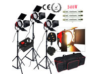 Red Head Kit 2400W - Video Shoot or Photography Lighting kit