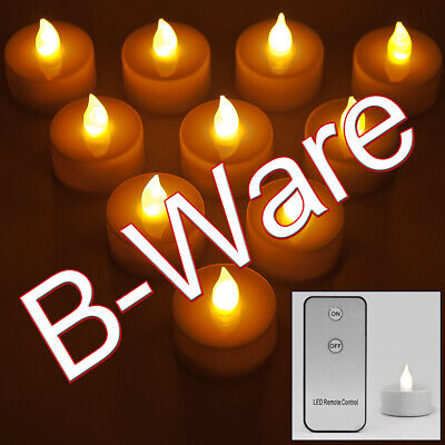 B-Ware 10x LED Teelichter Kerzen mit Bedienung und Batterien Teelicht Flackernd