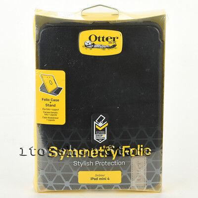 Otterbox SYMMETRY Folio iPad Mini 4 Leather Hard Book Case w/Stand Cover Black