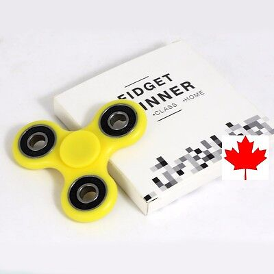 Fidget Tri Spinner EDC Stress Relief Focus Fun Toy for Kids Adults- Yellow