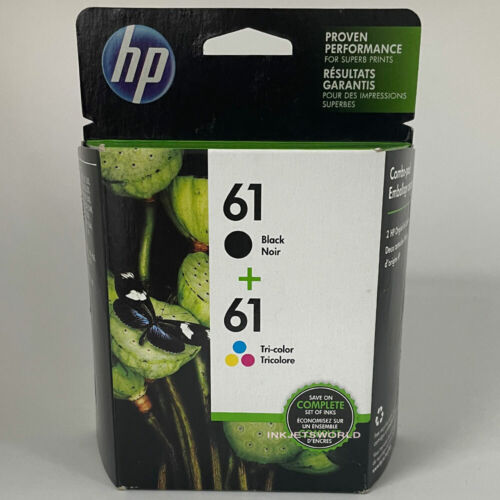 HP 61 2pack Combo Ink Cartridges Black and Color NEW GENUINE