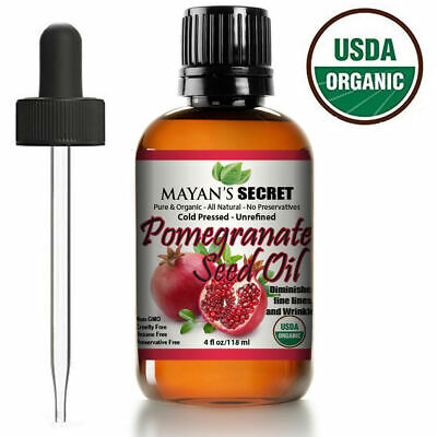 UNREFINED  POMEGRANATE SEED OIL USDA CERTIFIED ORGANIC COLD PRESSED Health & Beauty