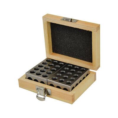 2 PC Precision Blocks 1-2-3 Metal Blocks 23 Holes Milling Drilling Machine Tool