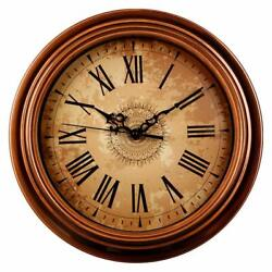 Round Wall Clocks 12 Inches Decorative Vintage Style Roman Numeral Clock