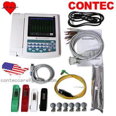 Contec Portable 12 Lead Ecg Machine Digital 12 Channel Electrocardiographfda