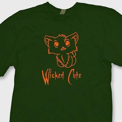Wicked Cute Halloween Kitten T-shirt Fast Easy Cat Tee Costume Tee Shirt
