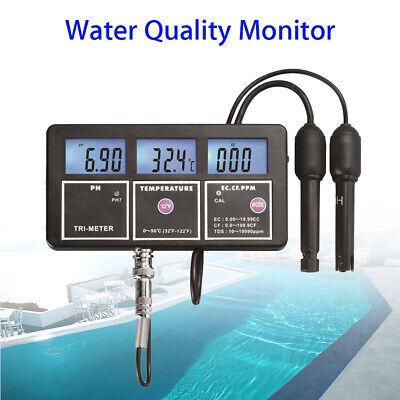 Water Quality Monitor Meter Digital EC CF TDS Temp Multiparameter For Aquarium