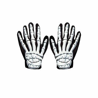 3D Skelett Handschuhe Erwachsene Halloween Kostüm Zubehör - Erwachsenen Skelett Handschuhe