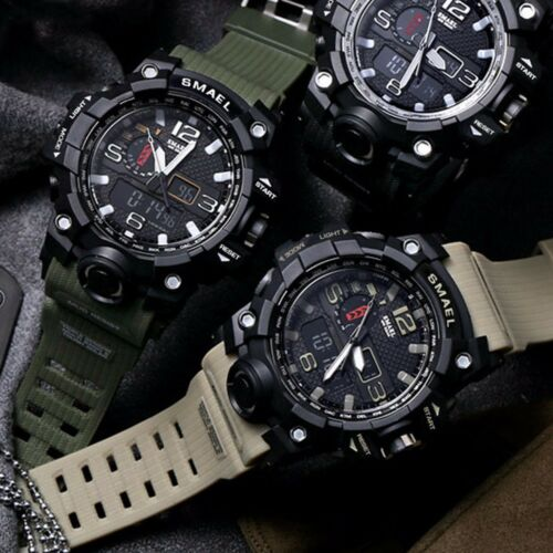 SMAEL Men's Military Sport Wrist Watch Quartz Dual Movement