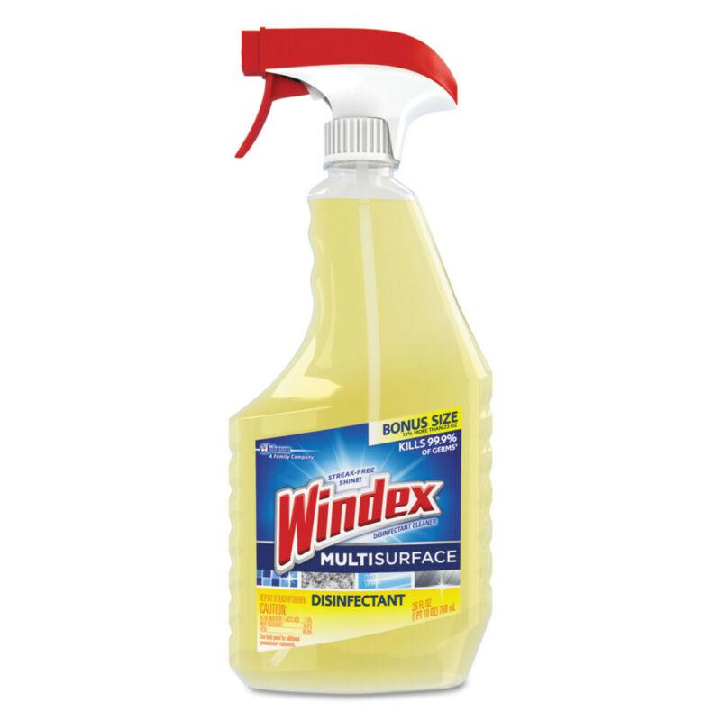 SC Johnson Antibacterial Multi-Surface Cleaner, Lemon Scent, 23 Oz Spray Bottle,