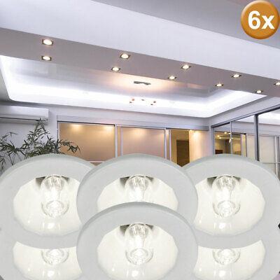 6er Set Focos Empotrables de Techo Lámparas Redondo Salón Baño Habitación Luces
