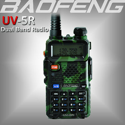 2017 BAOFENG UV-5R Green Dual Band 136-174/400-520Mhz Walkie Talkie Ham FM Radio