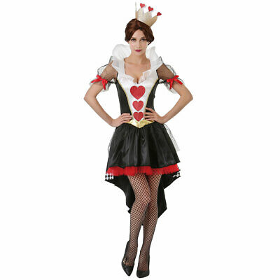 Queen Of Hearts Card Costume (Queen of Hearts Women's Halloween Costume – Red Card Dress and)