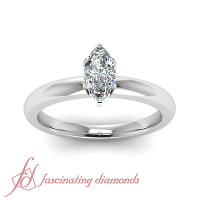 .65 Carat Marquise Shaped Diamond Solitaire Wedding Ring For Women GIA VVS1 1