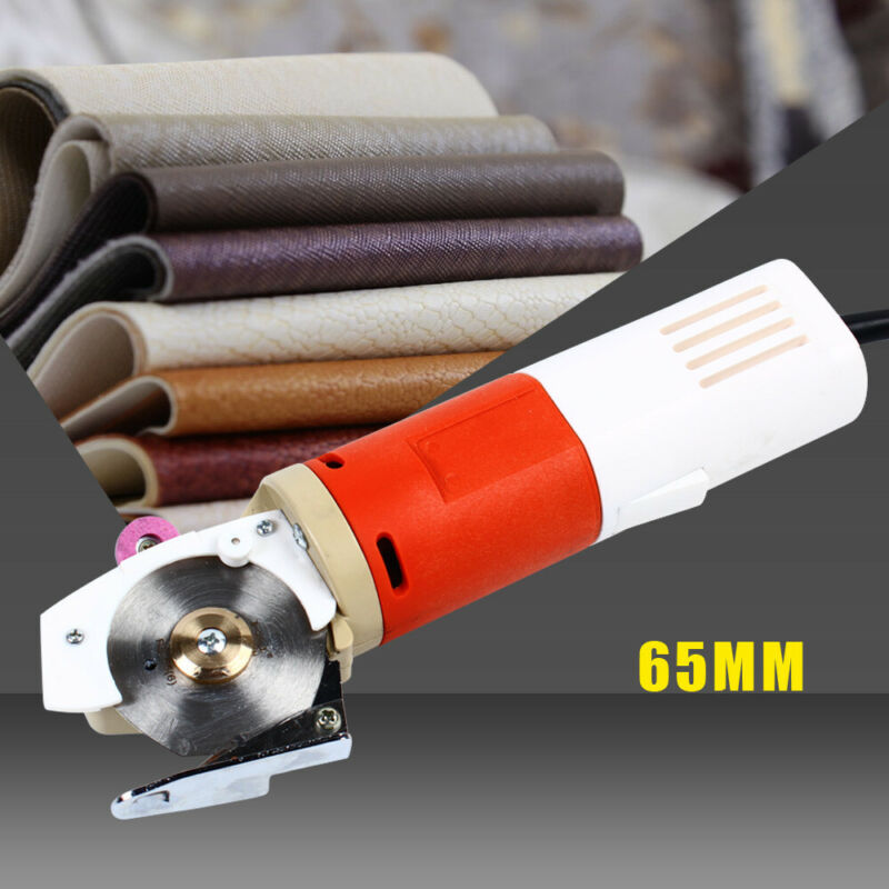 Electric Round Cloth Cutter  Fabric Leather Cutting Machine 65MM 110V US Plug