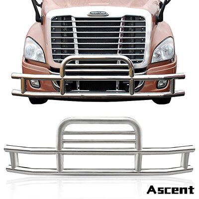 1xFront Protector Grill Bumper Deer Guard FOR 2008-2017 Freightliner Cascadia Halogen Stainless Steel Grill