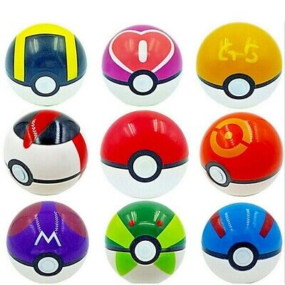 9PCS Pokemon Pokeball Pop-up Cosplay Master Great Ultra Balls Kids Toys Gift -
