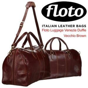 NEW Floto Luggage Venezia Duffle, Vecchio Brown, One Size Condtion: New, Vecchio brown