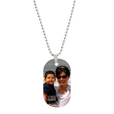 Personalized Photo (Single Side Vibrant Color Custom Personalized Photo Dog Tag Picture)