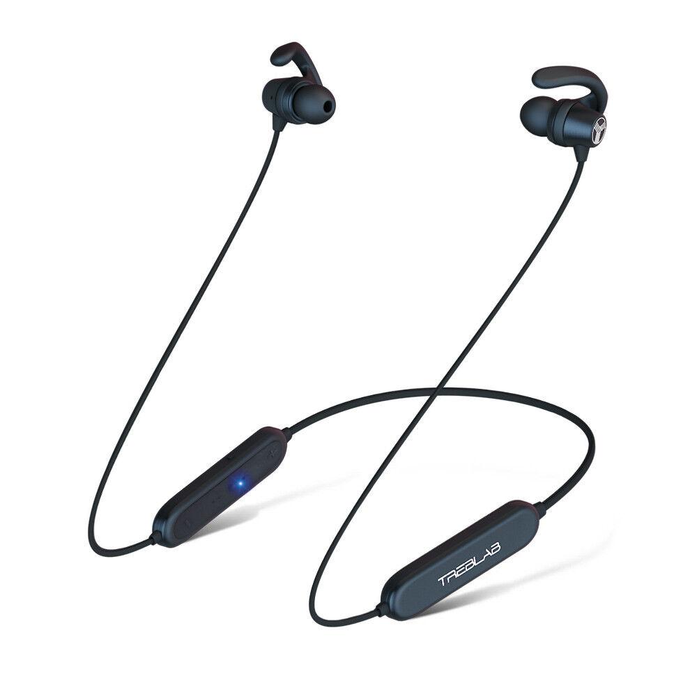 TREBLAB N8 Bluetooth Neckband Earbuds Waterproof Magnetic Wireless Headphones
